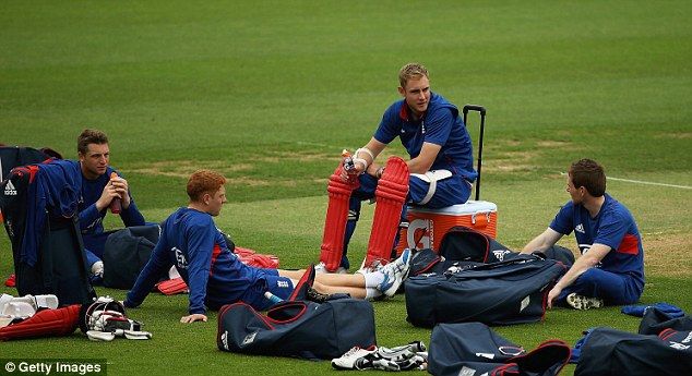 Undercooked: Jonny Bairstow (second left) has done too much sitting around this summer