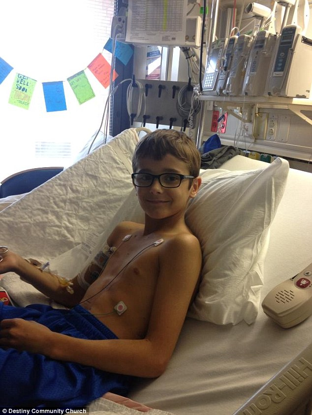 Record treatment: Benjamin Smith, 11, from Florida, is lucky to be alive after being bitten by the highly venomous eastern diamondback rattlesnake