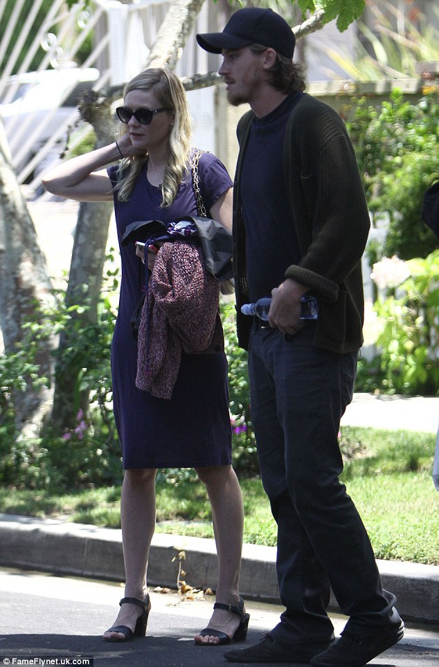 Headed out: Kirsten Dunst and her boyfriend Garrett Hedlund were spotted in Toluca Lake, California on Sunday