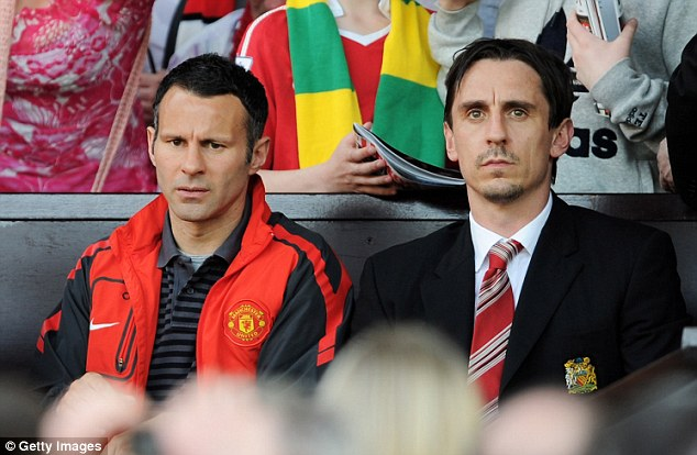Next generation: Giggs and Gary Neville are both taking their pro-license