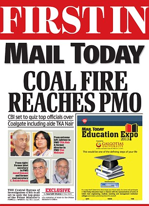 Mail Today's original story about the PMO's alleged involvement in the coal scam