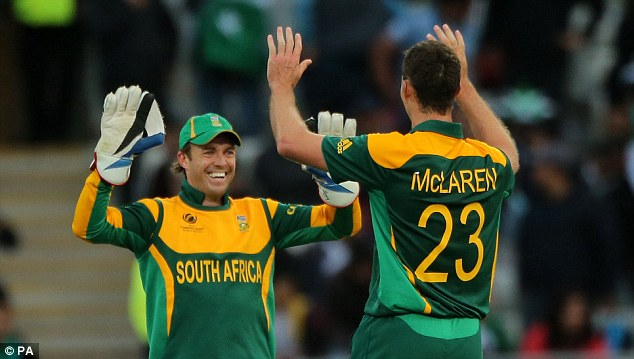 Trouble: South Africa skipper AB de Villiers has said that if something is going on it is a concern