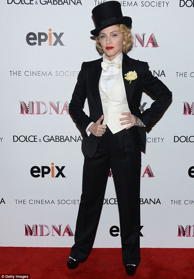 Ring master: Madonna attends the Dolce & Gabbana and The Cinema Society screening