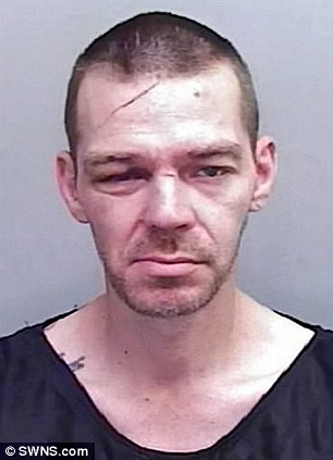 A police mugshot of Neil, who was given two years in jail for his part in the robbery