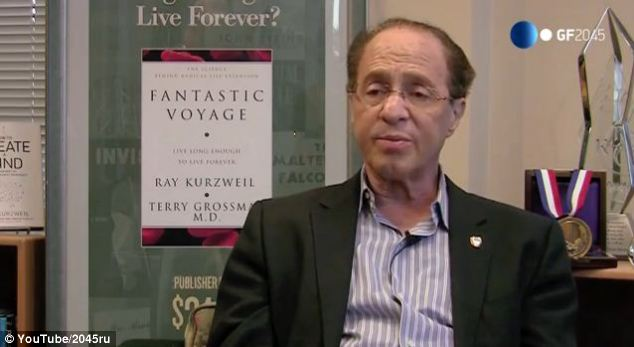 Sheehy added: 'A string of recent acquisitions in the field of robotics and machine intelligence, along with the recent hiring of Ray Kurzweil as a director of engineering shows that Google is by no means done with machine learning: it is clear that the company is just getting started.' Kurzweil is pictured