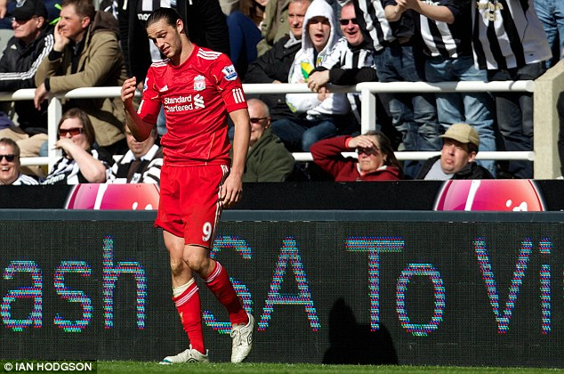 Tough times: Carroll failed to make the grade at Liverpool but will hope to resurrect his England career