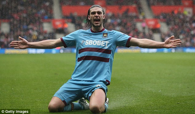 Fans' favourite: Carroll rediscovered his love for the game after a torrid time at Liverpool