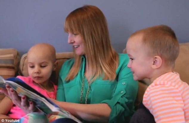 Loved: A tribute video shows her pictured with her mother Amanda and little brother Austin