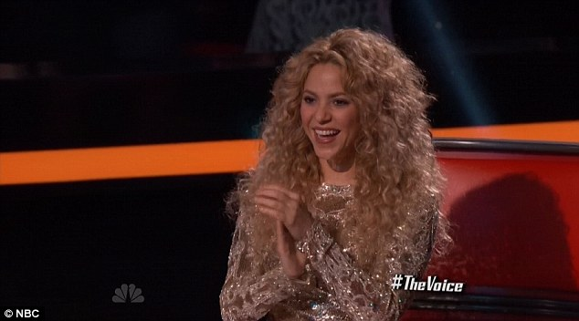 And she's done: Shakira wrapped up her judging duties on The Voice on Tuesday night