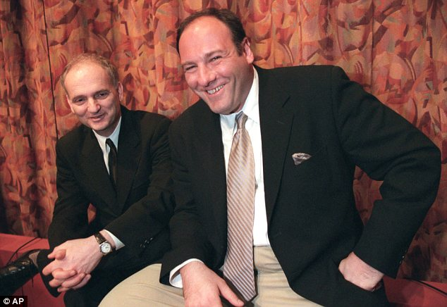 Tribute: Sopranos creator David Chase, pictured with Gandolfini, compared the actor with Mozart
