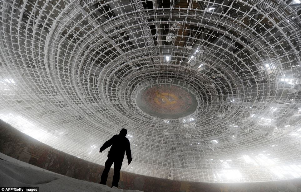 The House of the Bulgarian Communist Party was left after the regime collapsed two decades ago but the Bulgarian authorities have neither maintained nor dismantled them