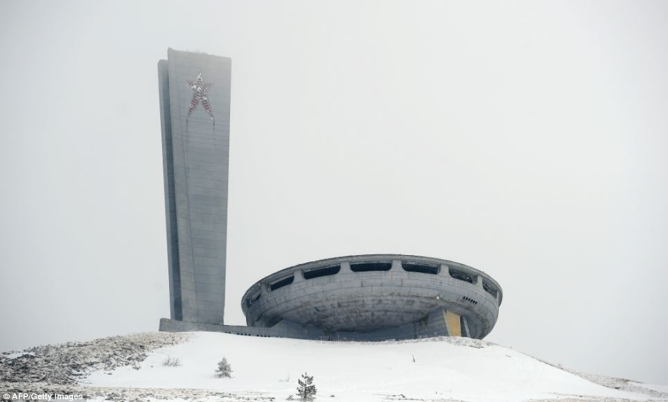 Looking eerie in the snow, the House of the Bulgarian Communist Party is now rarely visited