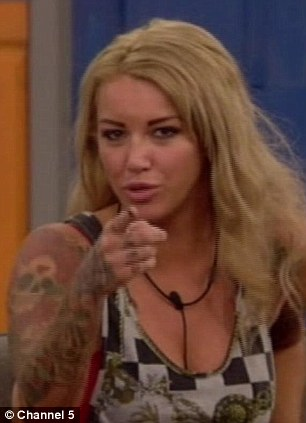 Saved: Sallie Axl laid into Dexter on Tuesday night's episode of Big Brother after mole Michael opted to save him from this week's eviction
