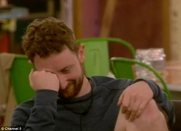 Despair: Actor Michael looked at the end of his tether as the housemates descended into arguing once again