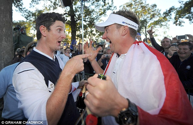 Stepping stone: Rose was part of Europe's team that came from behind to stun USA and win the Ryder Cup