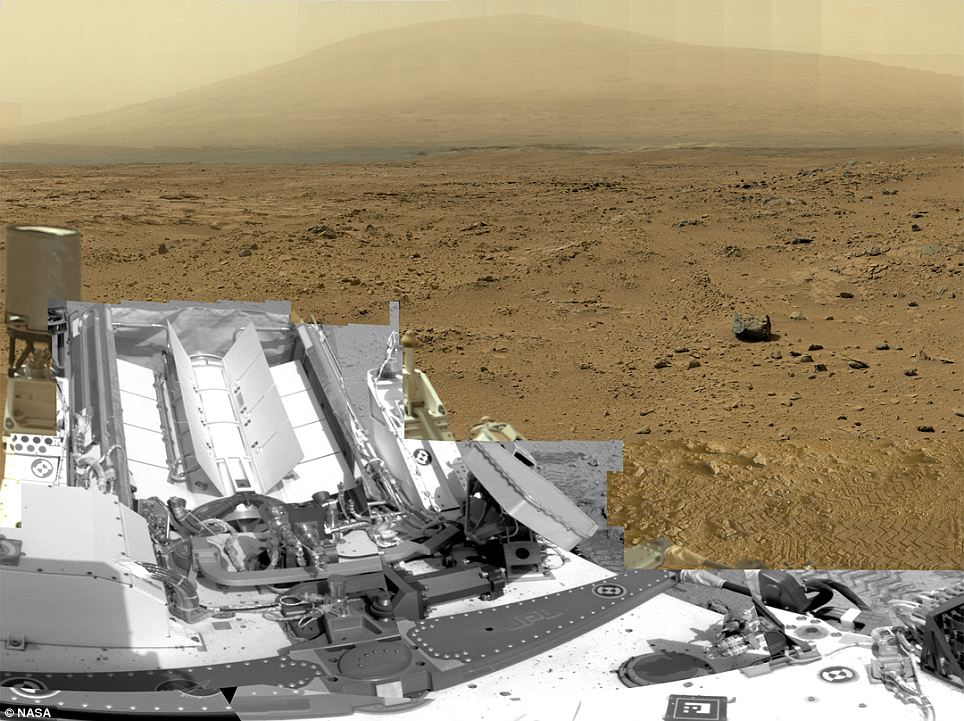 The billion-pixel view taken from an area of Mars called Rock Nest is a scaled-down version of the full-circle view which combined nearly 900 images taken by cameras attached to Nasa's Curiosity Mars rover