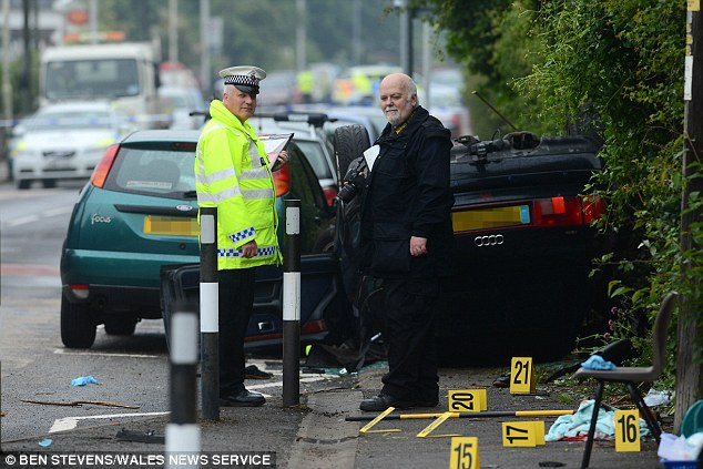 'Very serious': Police said there were 'multiple casualties' as a result of the accident including adults and children