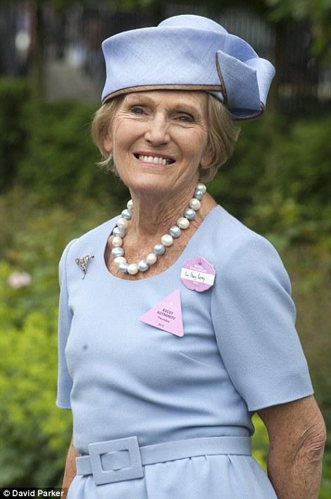 Baking royalty Mary Berry at Ladies Day at Royal Ascot