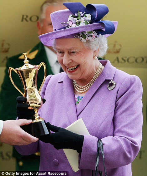 The Queen cannot hide her delight at winning the Gold Cup