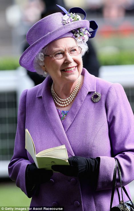 Queen Elizabeth could barely hide her delight after her horse won the race