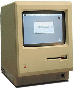 Original Apple Macintosh computer