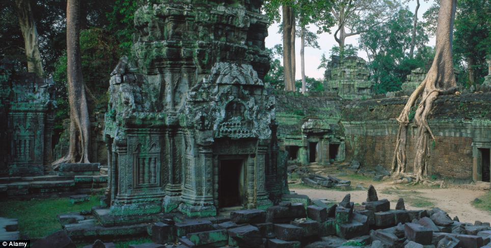 The temples of Angkor Wat in Cambodia have become a major tourist destination thanks to the fascinating way the trees growing in the ruins have so unusually distorted them