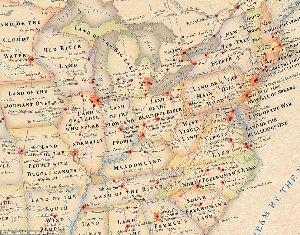 The Northeast: Who knew that Illinois meant 'Land of Those Who Speak Normally' or that Tennessee is 'Land of the River'