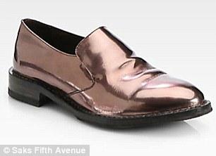 Brunello Cucinelli  Metallic Leather Loafers $1170.00
