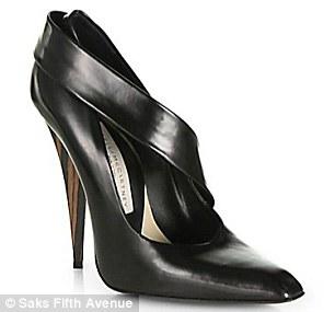 Stella McCartney Wooden Heel & Faux Leather Pumps $1000.00