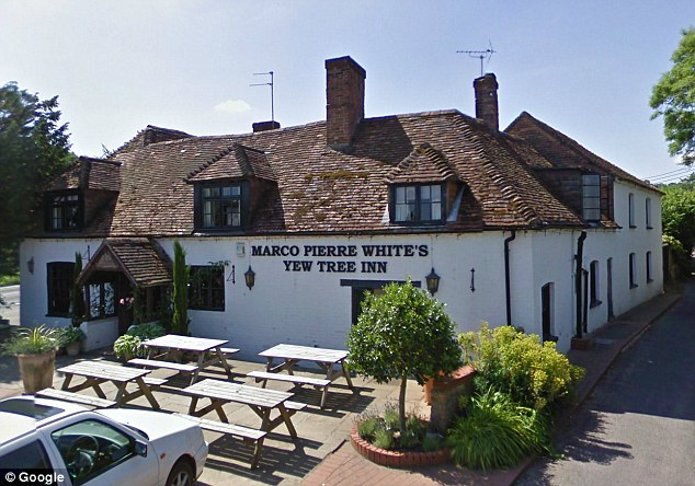 Pub: The judge was told that Mr White had become involved in the running of The Yew Tree in Highclere near Newbury, Berkshire, in 2005 before his name was 'removed' about five years later