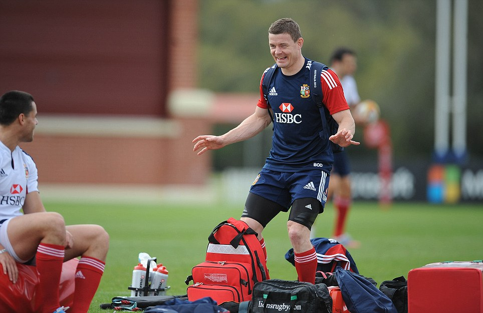 Peerless: Brian O'Driscoll's experience and ability could prove the difference when it comes to taking on the Australians in the three-test series