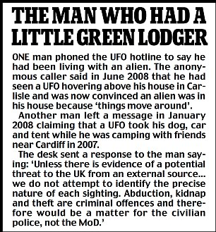 UFO accounts in Britain