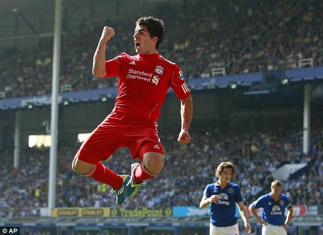 Top dog: Luis Suarez, from Uruguay, was Liverpool's top goalscorer last season