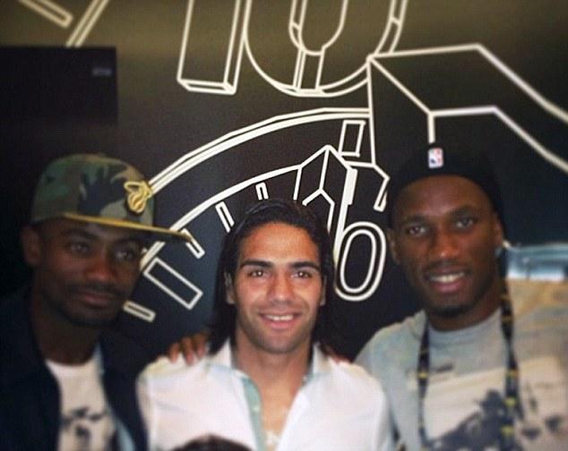 Too much talent in Miami: Salomon Kalou (left), Radamel Falcao (centre) and Didier Drogba (right) pose