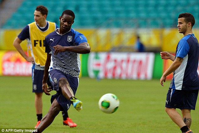 Goals: Balotelli has scored twice in the Confederations Cup so far