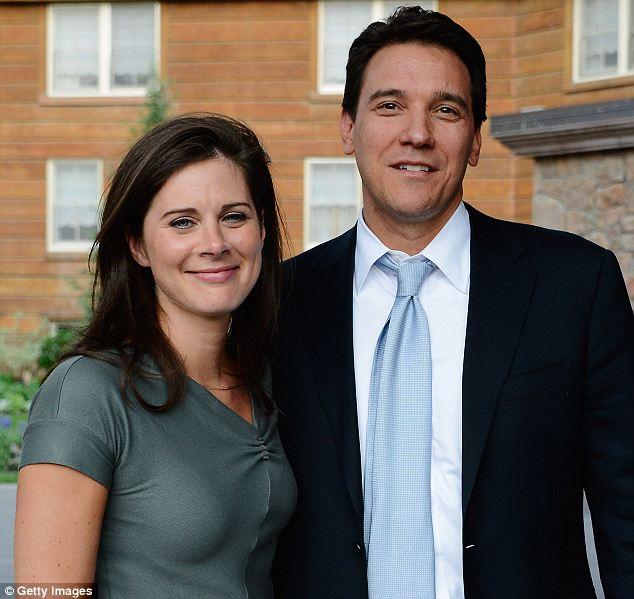 Happy couple: Burnett met her husband David Rubulotta on a blind date eight years before their 2012 wedding