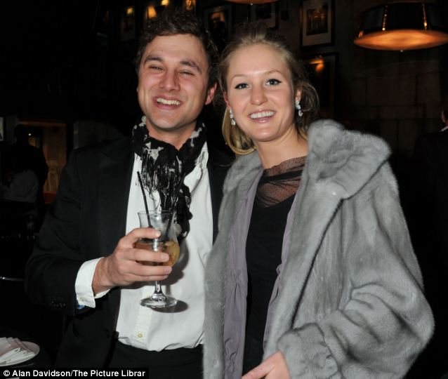 Bride and groom to be: Thomas van Straubenzee will marry Lady Melissa Percy in a lavish ceremony at the castle in Northumberland tomorrow