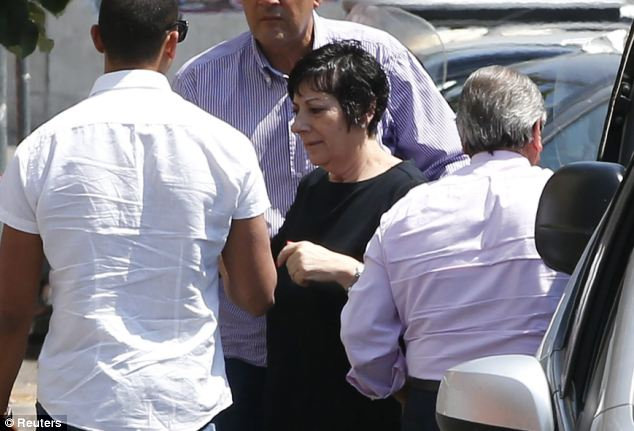 Sadness: Gandolfini's sister Leta arrives at the Rome morgue where the body of her brother is being held following an autopsy, which confirmed he died of a heart attack