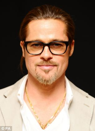 Brad Pitt has the masculine features that women choose for a fling