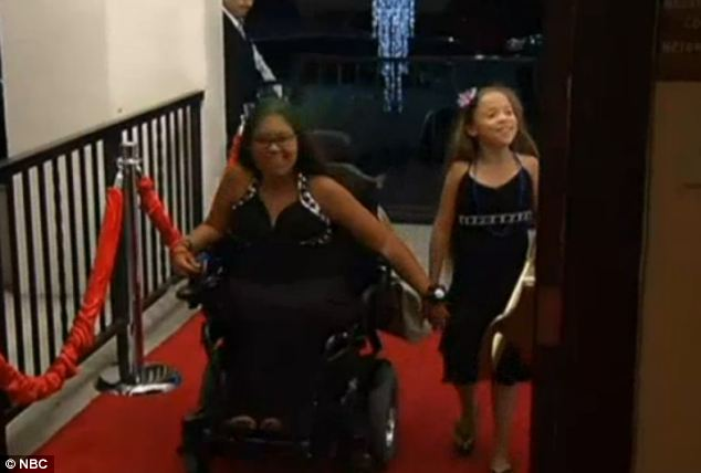 Arrival: Guests at the No Worries Now prom took a red carpet to the dance floor on Thursday night