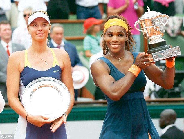 Rivals: Sharapova criticized Williams for her comments during her Wimbledon press conference