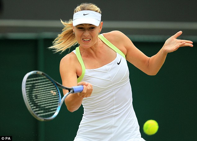 Competition: Sharapova will face Williams on the tennis courts after condemning her over the Rolling Stone article