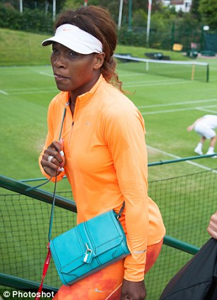 Number one: Serena Williams at the Wimbledon practice court
