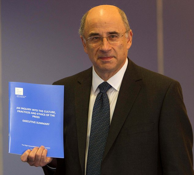 'Cover-up': Lord Justice Leveson knew about an explosive report on phone-hacking but did not reveal its existence in the report issued by his inquiry