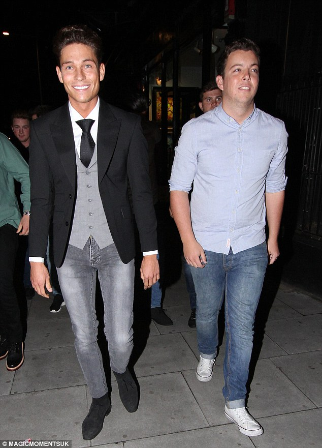 Boys' night: While the girls were out in London, Joey Essex and Diags were out in Essex