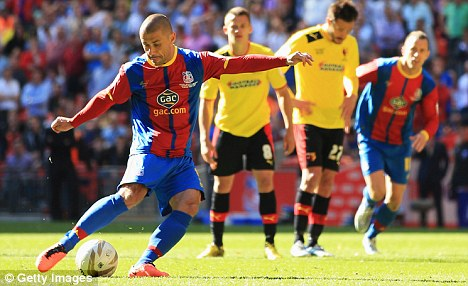 Still got it: Kevin Phillips socres the winning goal in the Championship Play-off final