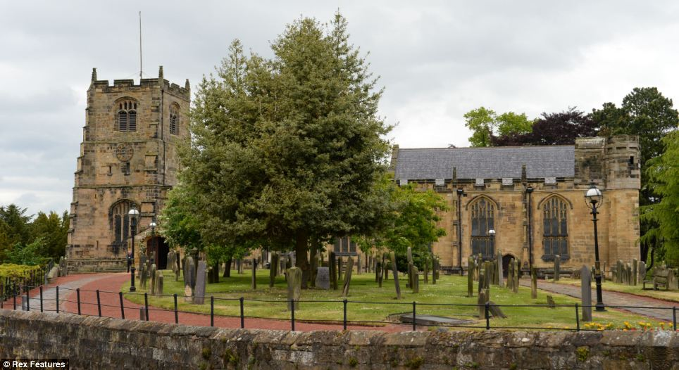 Venue: The couple will marry at St Mary's Church in Alnwick ahead of a lavish reception at the bride's sprawling ancestral home - which has doubled for Hogwarts School in the Harry Potter movies