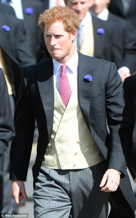 Looking dapper: Prince Harry and Prince William are seen arriving for the wedding of Lady Melissa Percy and Thomas van Straubenzee