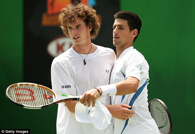 We go back years: Andy Murray and Djokovic played together in the doubles at the Australian Open in 2006 (above), where the duo have contested the final two out of the last three years