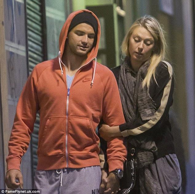 Love interest: Maria Sharapova with her boyfriend, Bulgarian tennis player Grigor Dimitrov